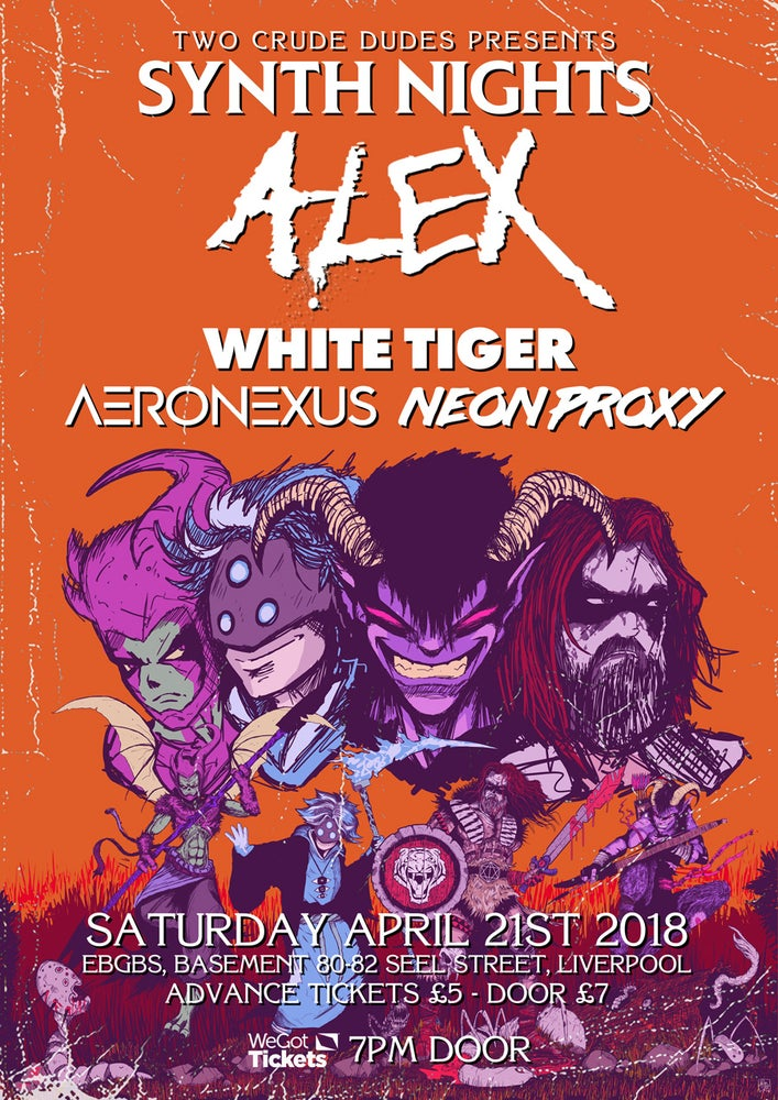 Image of Synthnights II Poster feat. ALEX, White Tiger, Aeronexus & Neon Proxy