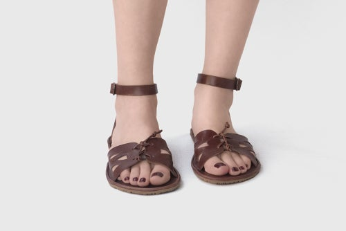 Image of Helia Sandals in Brown