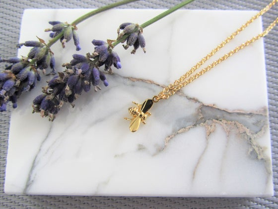 Image of Delicate Gold Bee Necklace