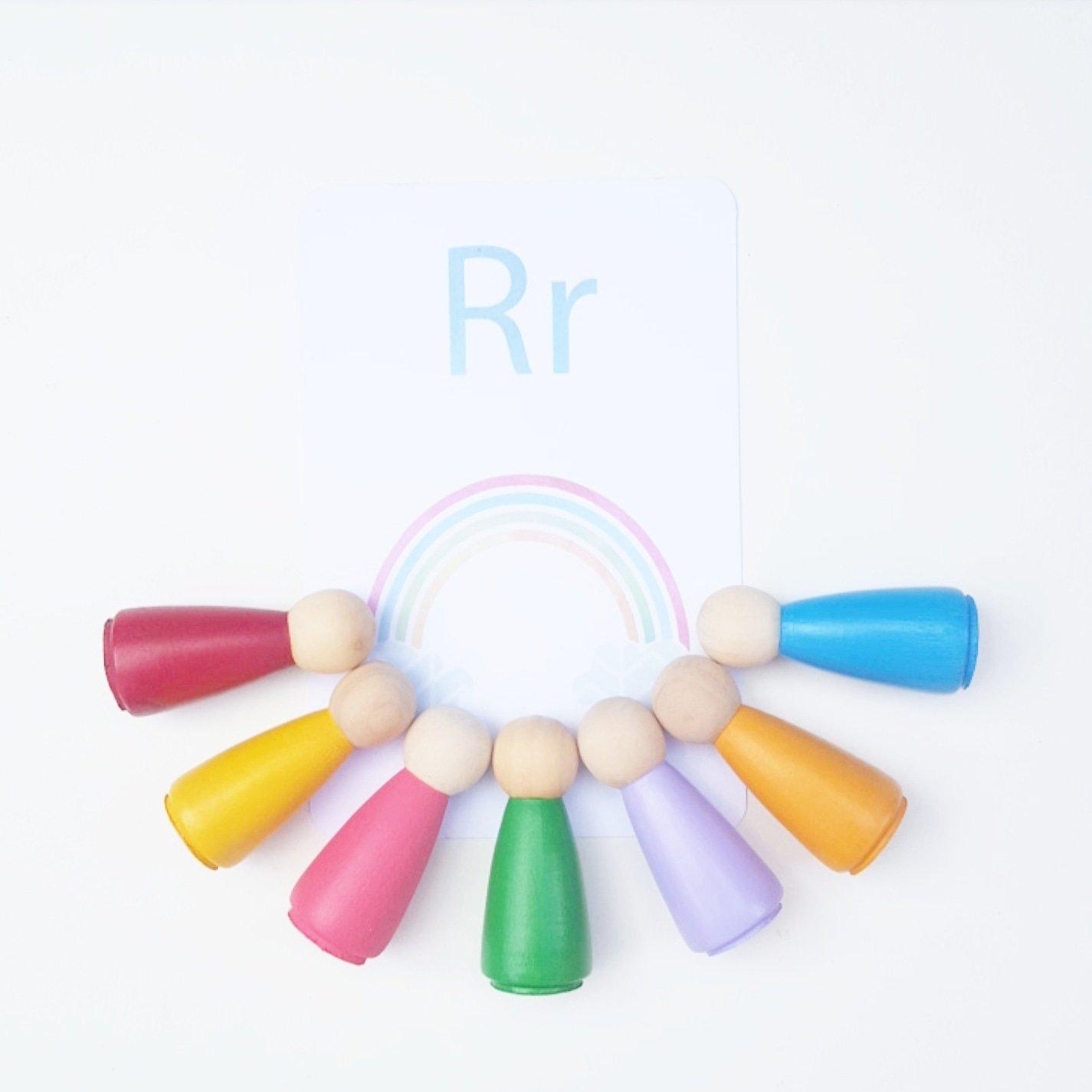 Image of Rainbow Peg Doll Sets
