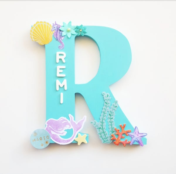 Image of Girls UNDER THE SEA Personalised letters