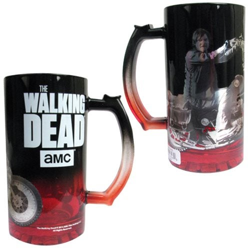 Image of The Walking Dead Daryl Dixon on Motorcycle Glass Beer Mug