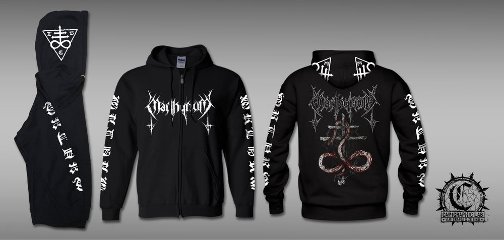 Image of Abominations Zipped Hoodie.