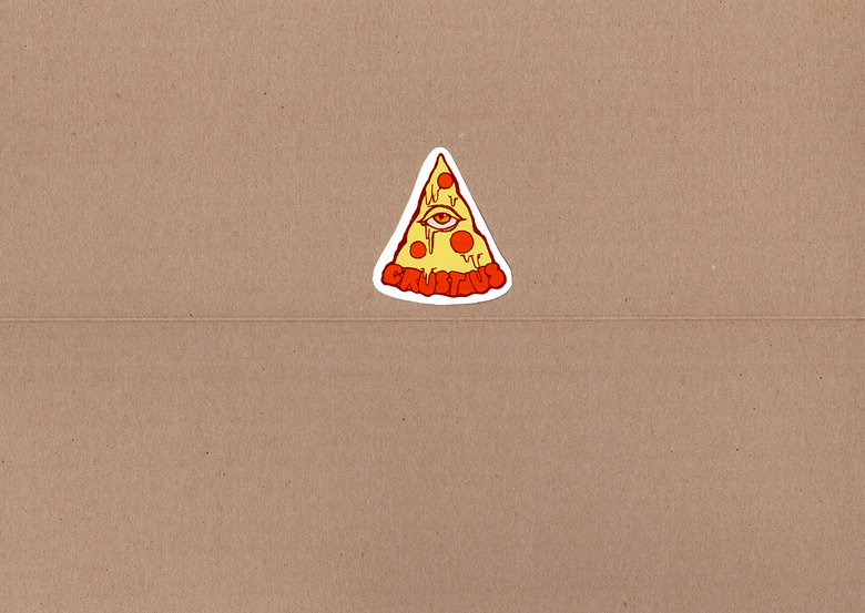 "Image of The Pizzauminati! - 3.5""x3.5"" Sticker"