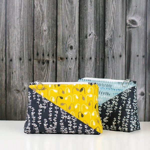 Image of Diagonal Zip Pouch Pattern