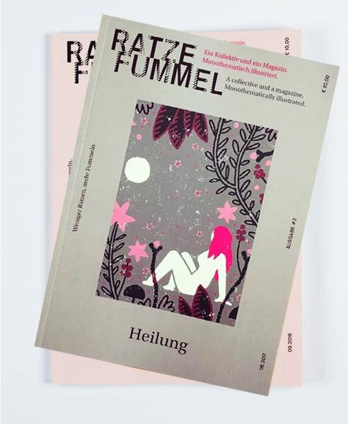 "Image of Ratzefummel Magazin ""Hinterland"" & ""Heilung"""