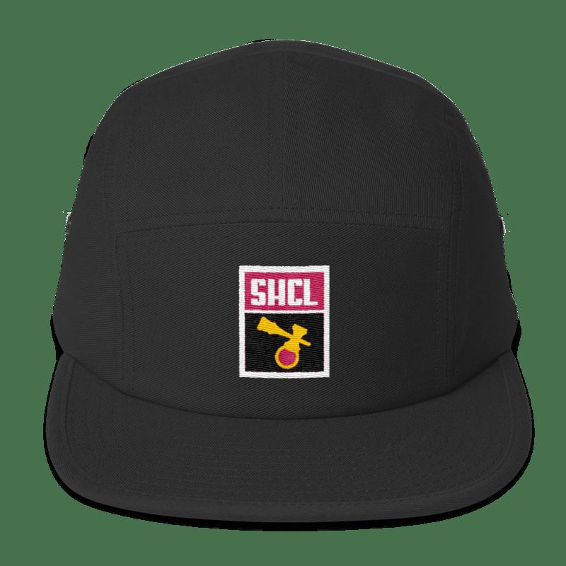 Image of SCHL LUNAR PATCH 5-PANEL BLACK/PINK