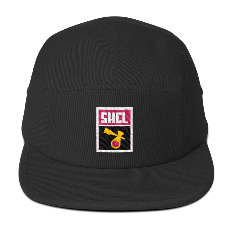 Image of SCHL LUNAR PATCH 5-PANEL BLACK/PINK