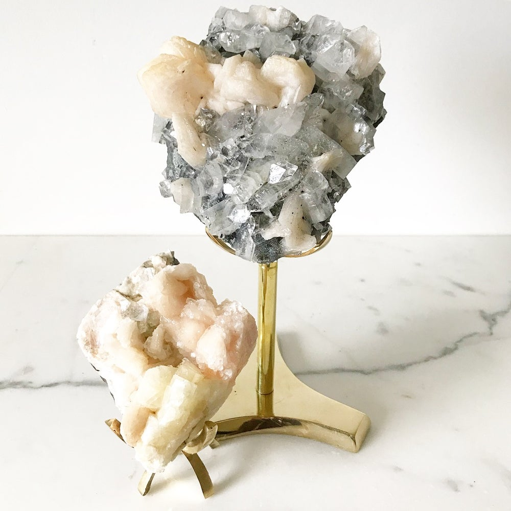 Image of Zeolite no.96 Vintau Tall Brass Stand Pairing