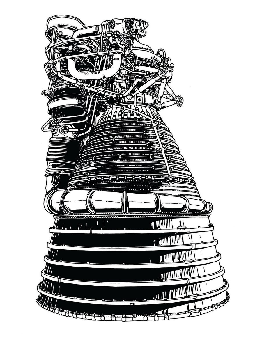 Image of Rocketdyne F1 poster