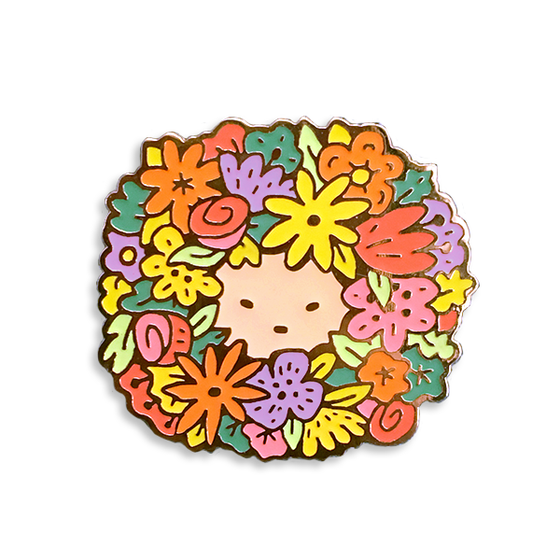 Image of Flower Boy Zine + Enamel Pin