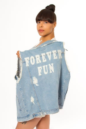 Image of Forever Fun Blue Jean Jacket