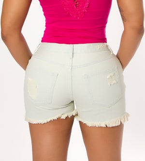 Image of Light Blue Denim Shorts