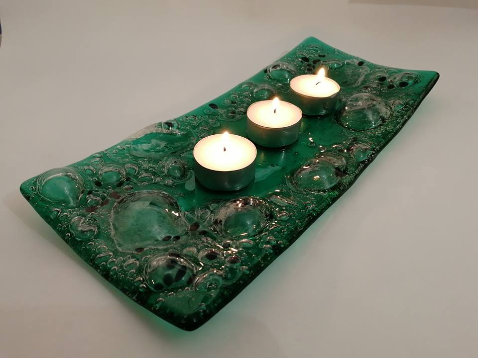 Image of Emerald Swell Large Candle Holder