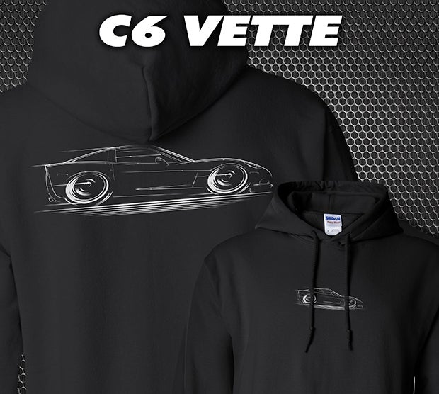 Image of C6 'Vette T-Shirts Hoodies Banners