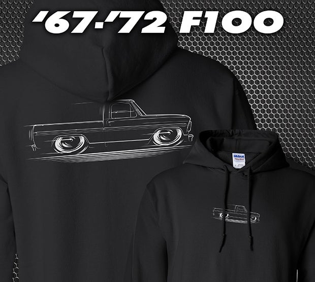 Image of '67-'72 Ford F100 Bumpside Truck T-Shirts Hoodies Banners