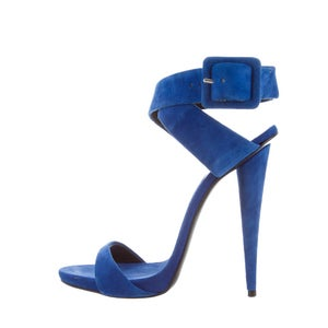 Image of PRE-OWNED: Giuseppe Zanotti Suede Heels