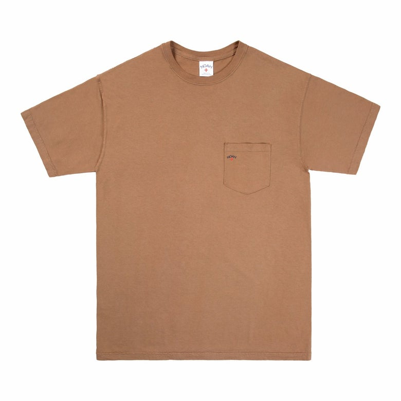 Image of NOAH - Pocket Tee (Brass/Brown)