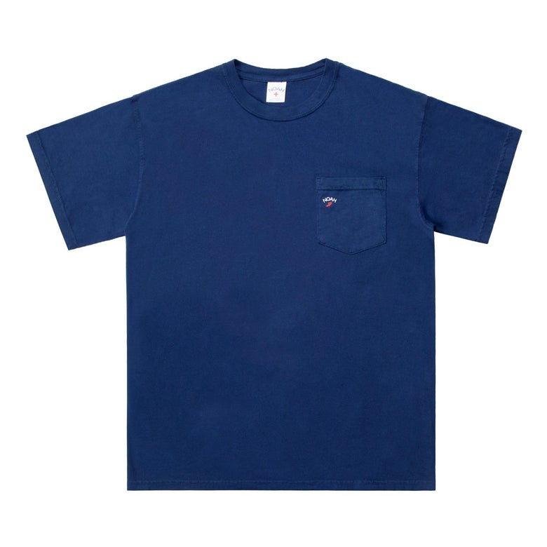 Image of NOAH - Pocket Winged Foot Tee (Navy)