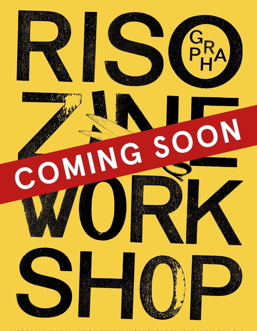 Image of Risograph - 2 colour zine making workshop