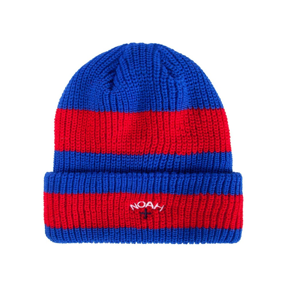 Image of NOAH - Hoop Stripe Beanie (Royal)
