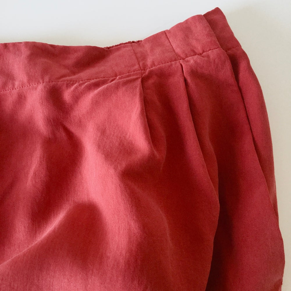 Image of Vintage 90s Casual Corner Silk Skirt