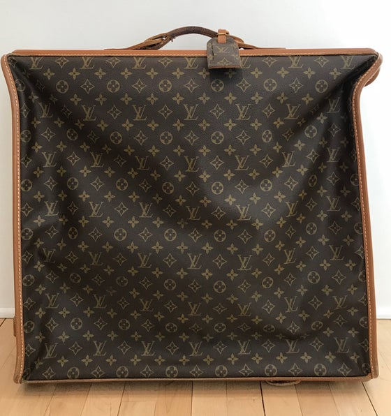 Image of VINTAGE LOUIS VUITTON FRENCH COMPANY MONOGRAM GARMENT BAG