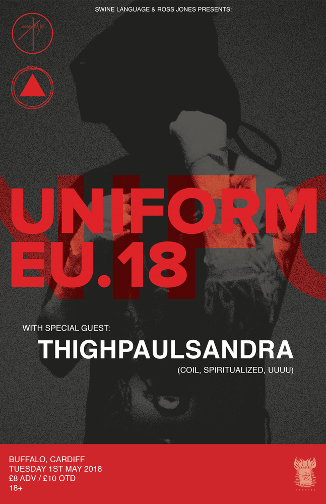 Image of UNIFORM + THIGHPAULSANDRA @ BUFFALO, CARDIFF