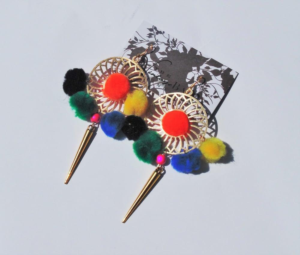 Image of Pom Pom Earrings