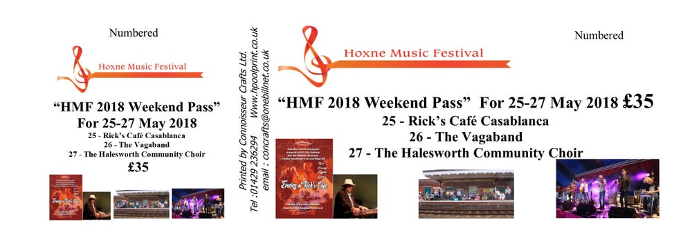 Image of 2018 Hoxne Music Festival Week End Pass