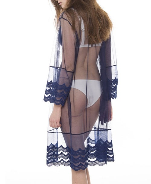 Image of Sheer Mesh Cover-up