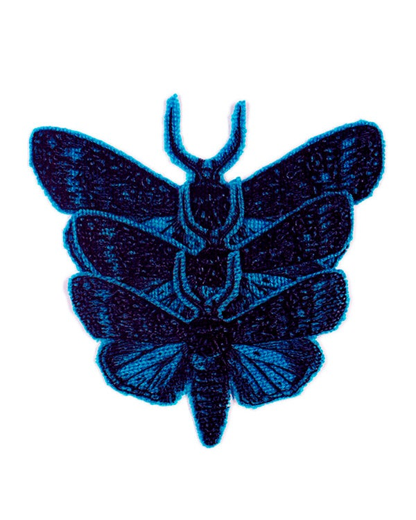 Image of Iron-on Cashmere Moths -  Dark Turquoise