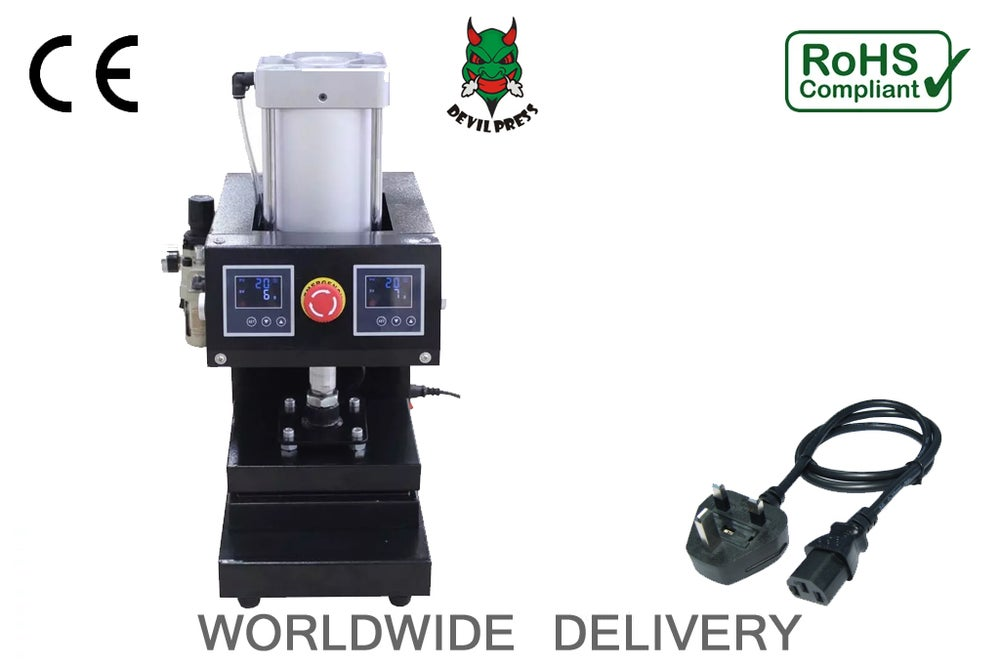 Image of Devil Rosin Press™   DP 17  Hydraulic 6x8 5000psi Dual Heating Plates Press Wax Extractor