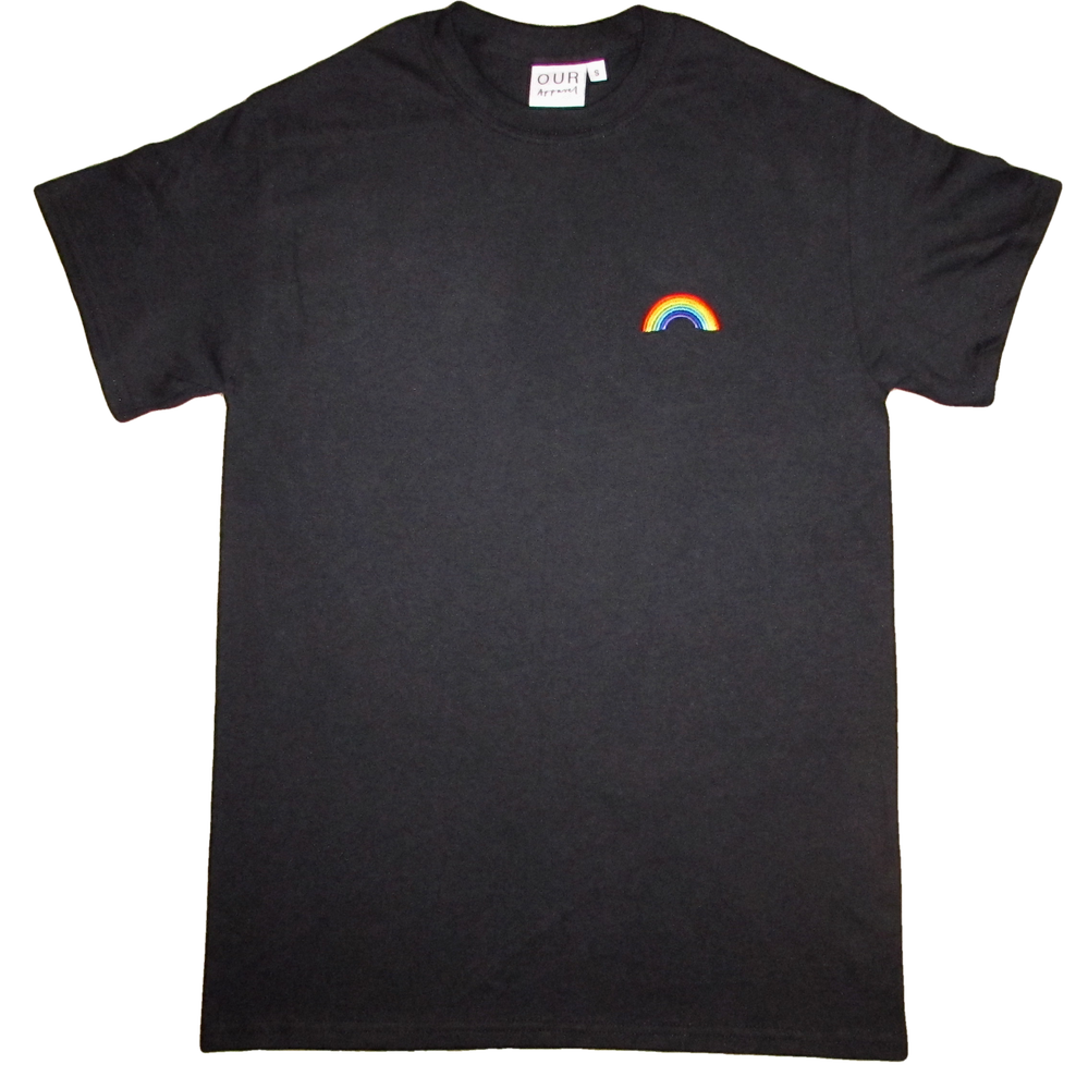 Image of Black Rainbow Tee