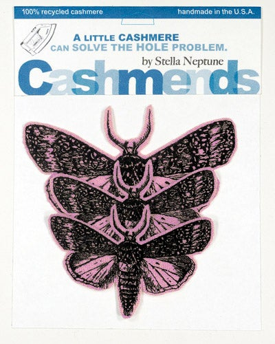 Image of Iron-on Cashmere Moths - Light Pink