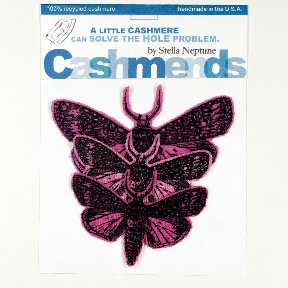 Image of Iron-on Cashmere Moths - Triple Pink