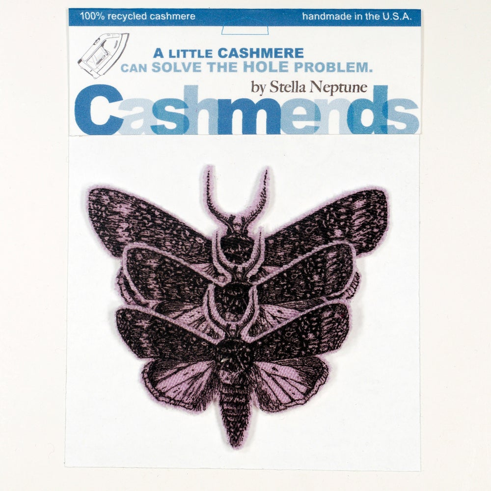 Image of Iron-on Cashmere Moths - Lavender