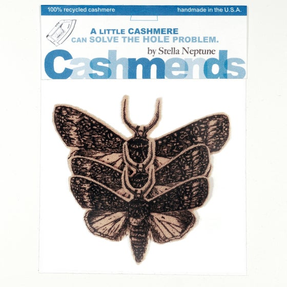 Image of Iron-on Cashmere Moths - Camel