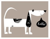 Image of Hello! Pup Print - Language Class Friends Giclee - New!