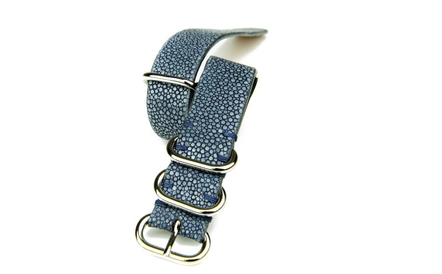 Image of Light blue stingray NATO strap