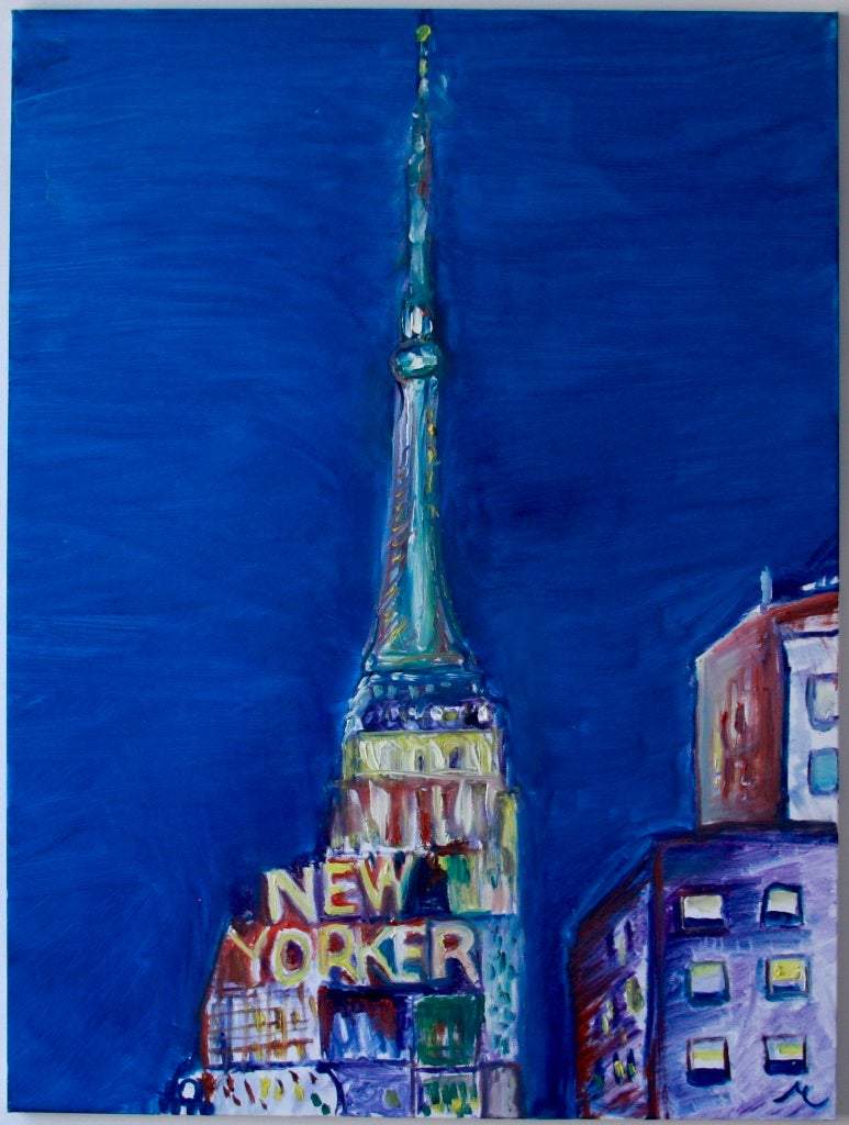 """Image of New Yorker, 30"""" x 40"""" painting"""
