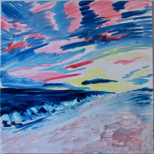 "Image of Montauk Rainbow, 30"" x 30"" painting"