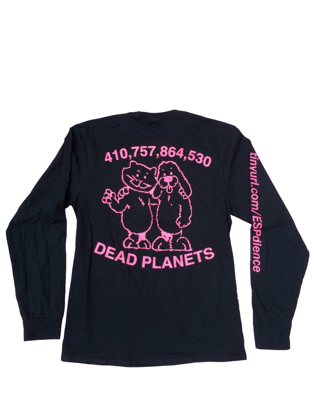 Image of East Side Powerviolence 'Dead Planets' L/S T-Shirt (Black)