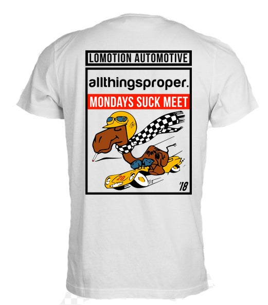Image of ATP - Mondays Sucks Meet Tee - '18 - White