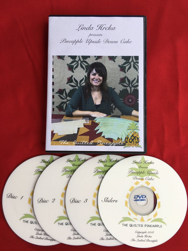 Image of HOLIDAY SALE! DVD - Pineapple Upside Down Cake - Building Blocks to Free Motion Quilting