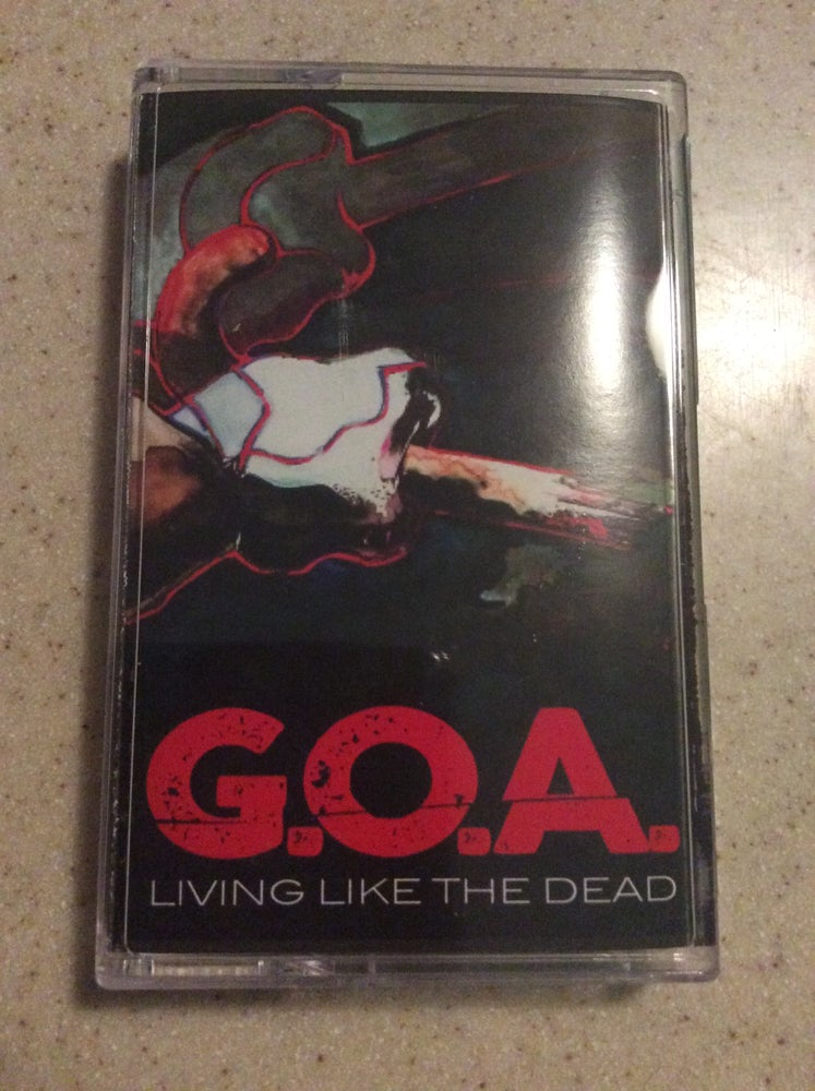 "Image of GOA ""Living Like The Dead"" Cassette"
