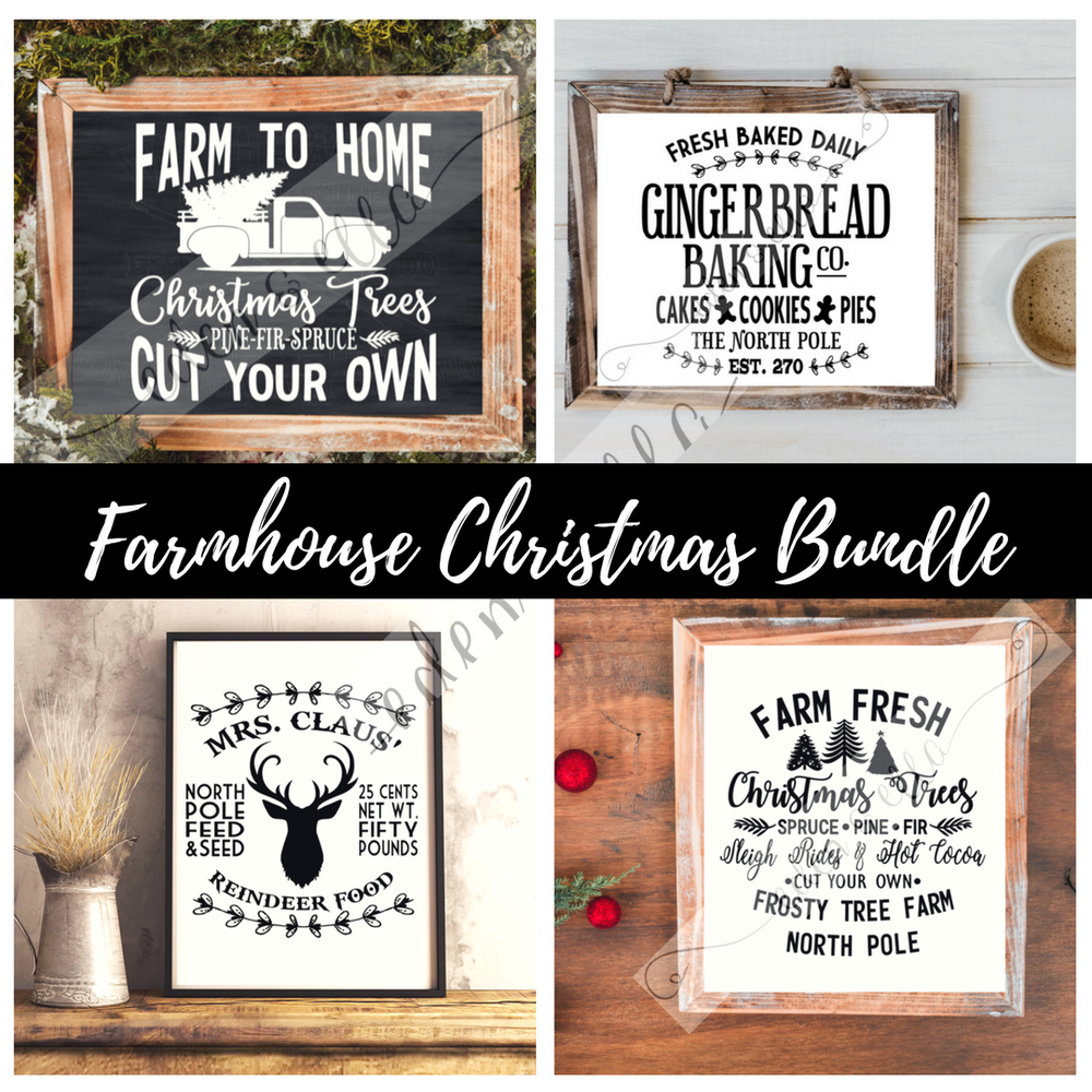 Image of FARMHOUSE CHRISTMAS DIGITAL DESIGN BUNDLE