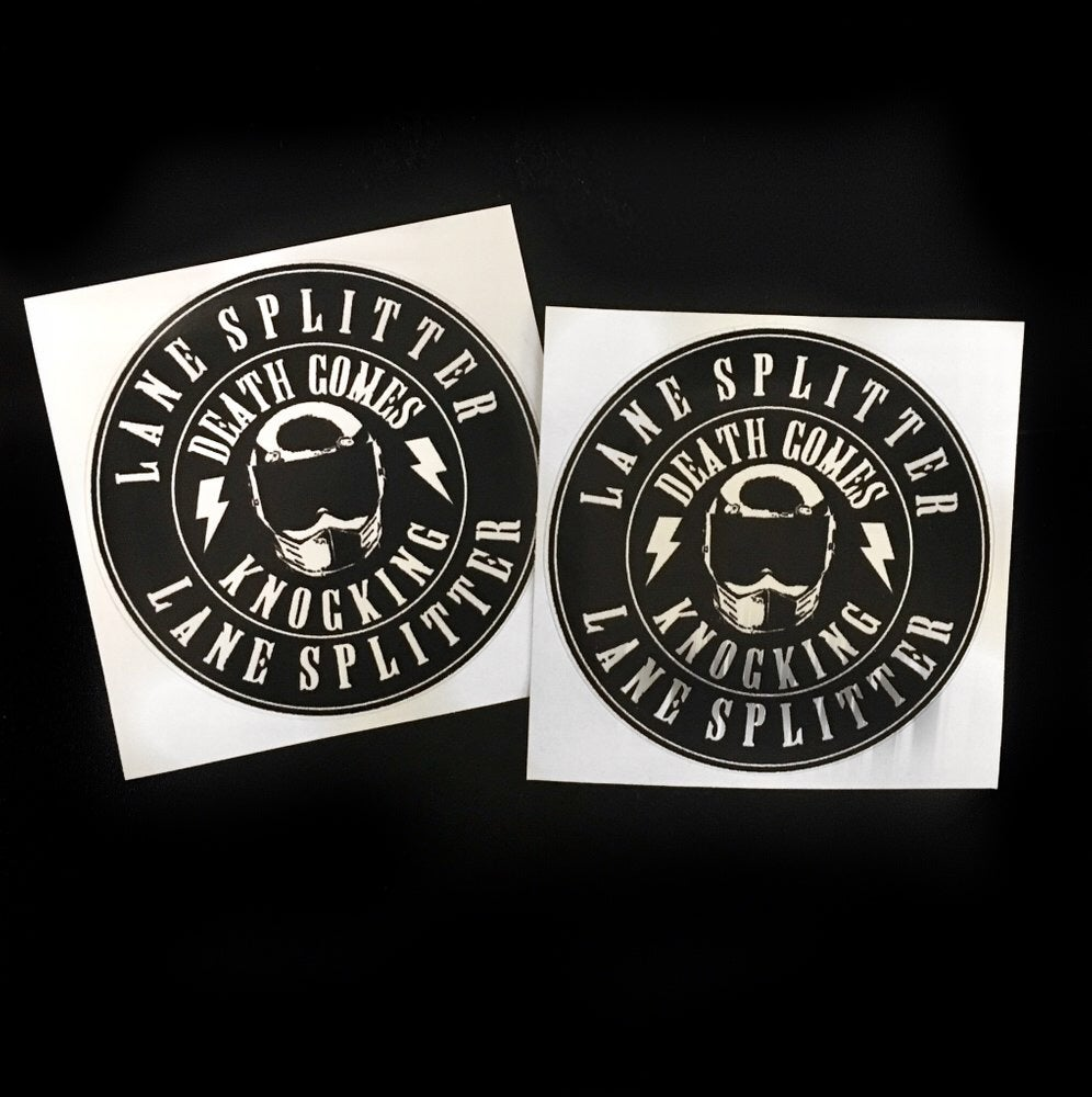 Image of Death Comes Knocking stickers
