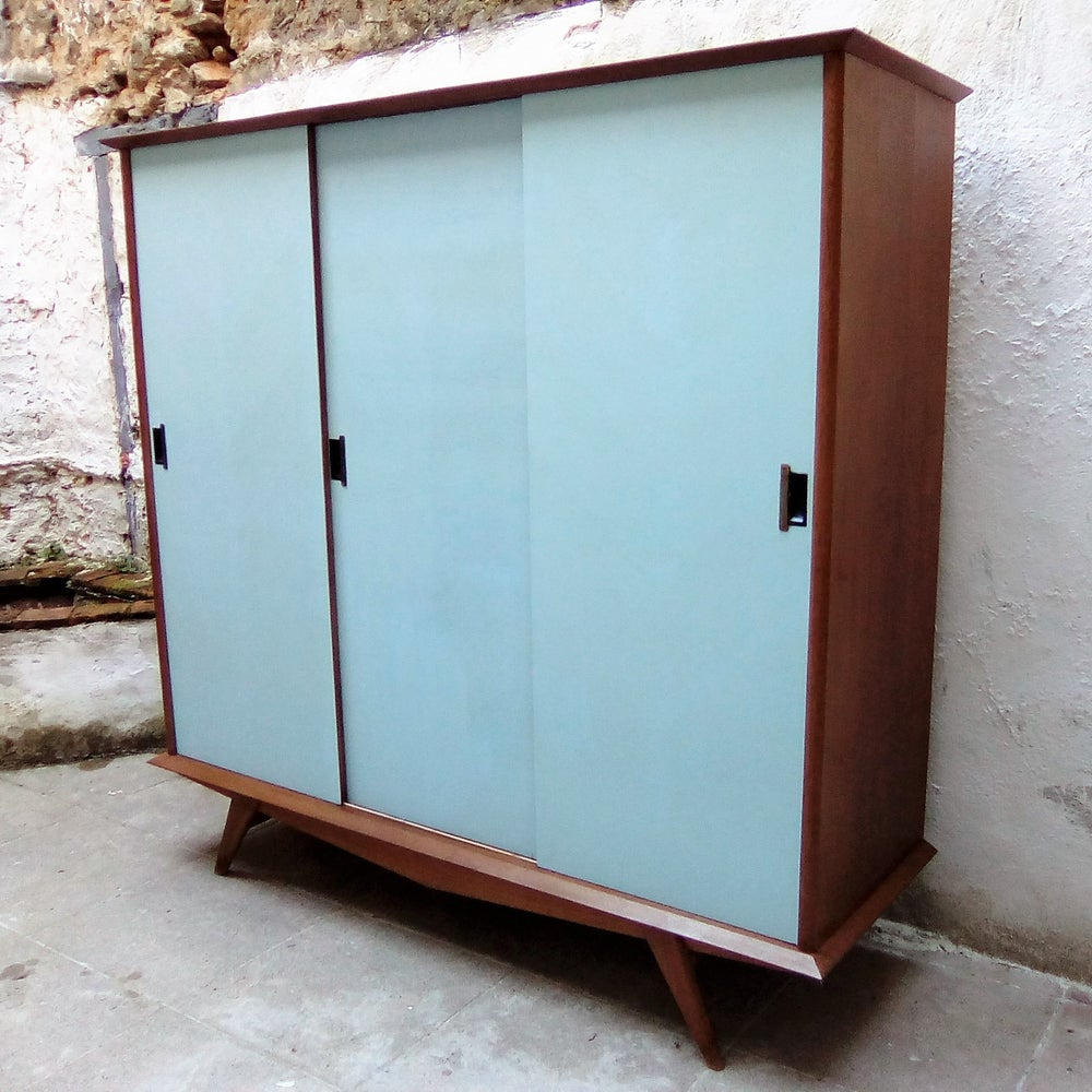 """Image of Armoire trois portes - compas """"Gustavian"""""""