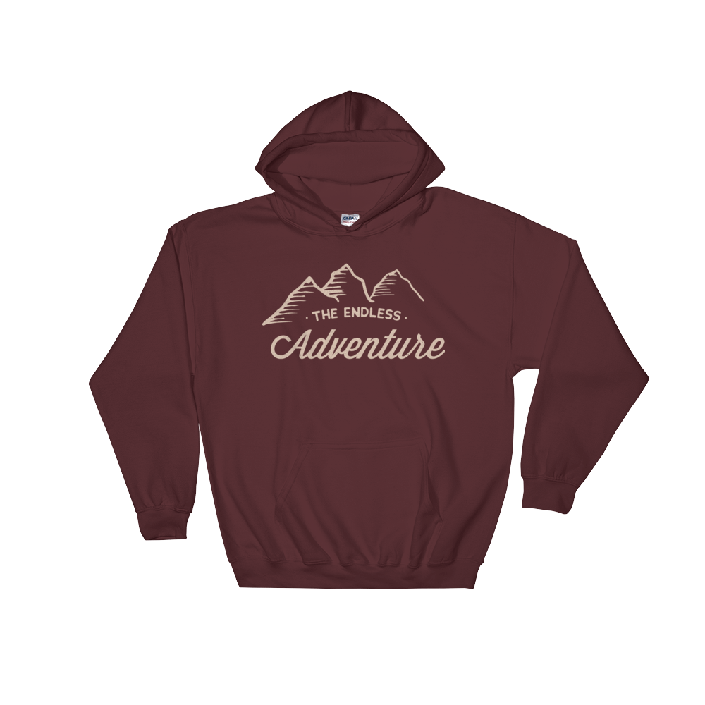 Image of TEA Mountain Logo Hoodie - Maroon